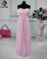 Robe De Soiree Longue Custom Made Purple/Blue/Green Chiffon Pleat Beading Crystal Elegant Bridesmaid Dresses Wedding Party Gowns
