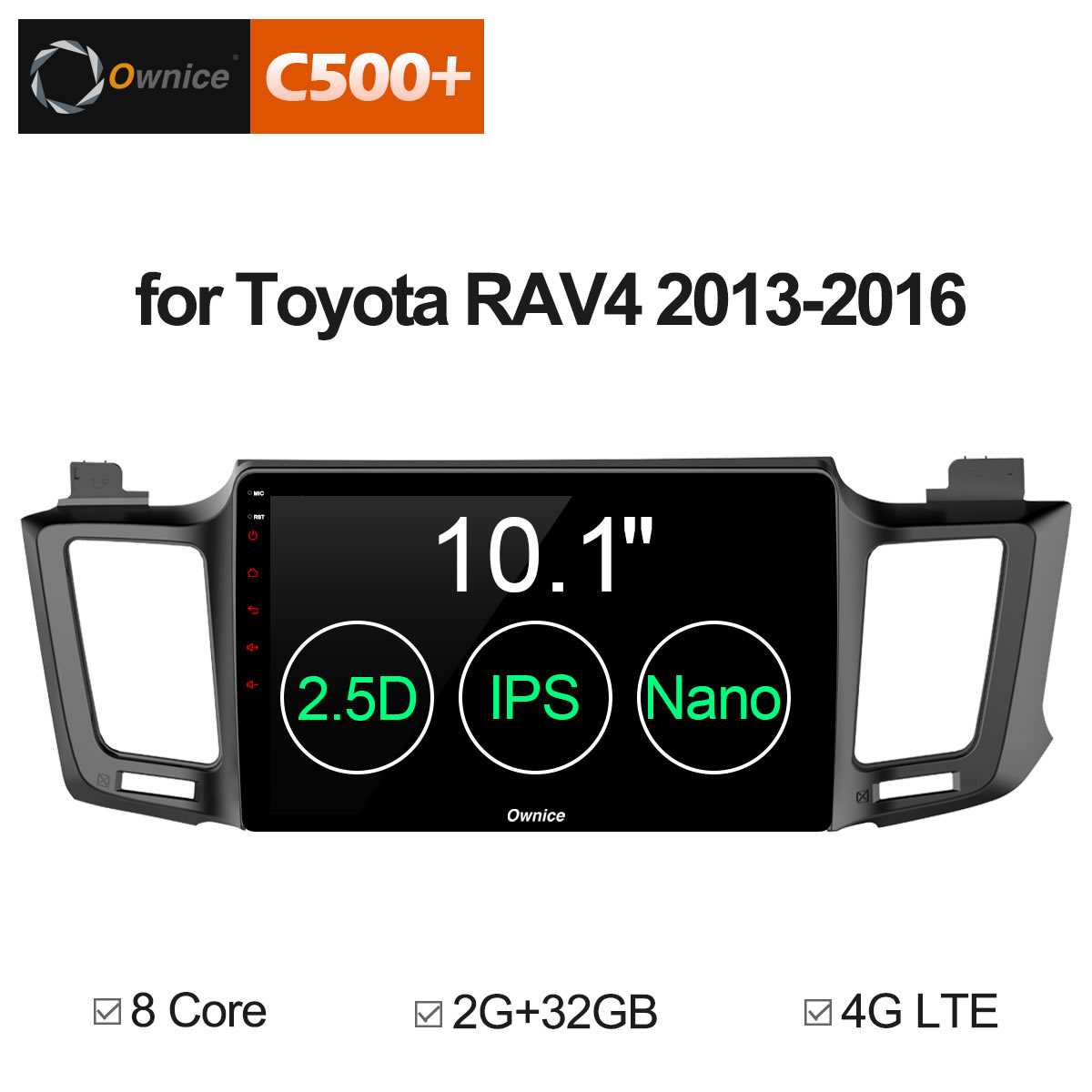 10.1 Ownice C500+ G10 Android 8.1 Octa 8 Core For Toyota RAV4 2013-2015 2016 Car DVD player Navigation GPS Radio 2G RAM 4G LTE 10 1 ownice c500 g10 octa 8 core android 8 1 car dvd gps player for toyota tundra 2007 2013 sequoia 2008 2018 stereo radio
