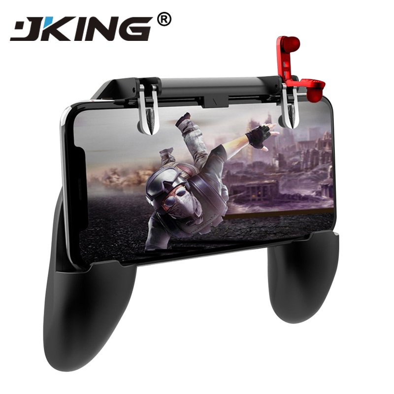JKING For PUBG Mobile control Gamepad , Cell Phone Joystick Gamer Trigger Gaming pad , L1R1 controller for iPhone Android