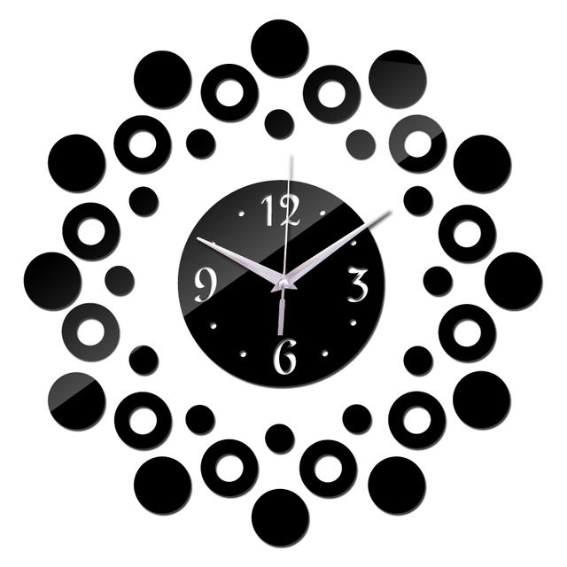 Modern new 3d acrylic clocks home decor