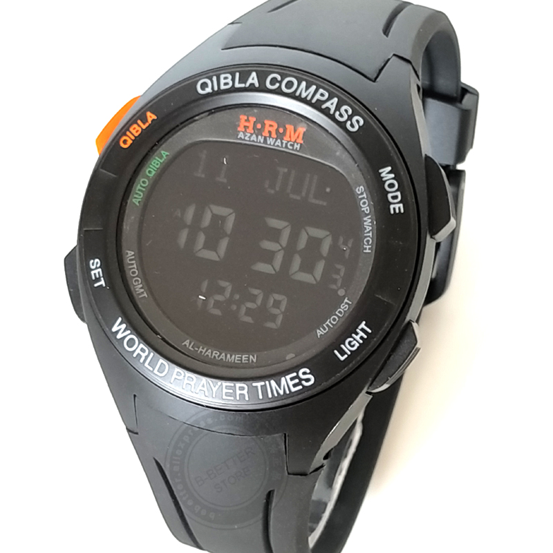 Muslim Prayer Wristwatch With Qibla Compass 6208 Rectangle Watch For Muslim With Prayer Alarm & Azan Time Digital Watches Men's Watches