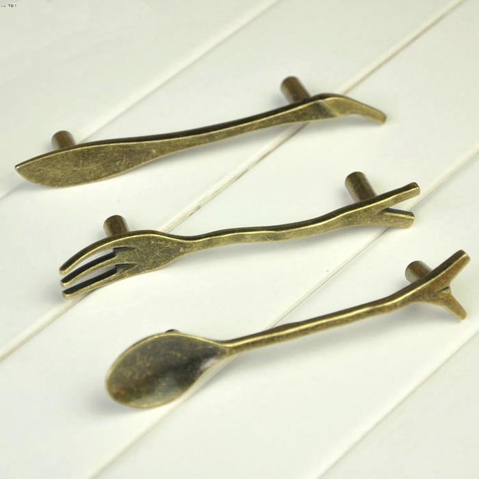 Knife Spoon Fork Style Antique Tableware Handles Zinc