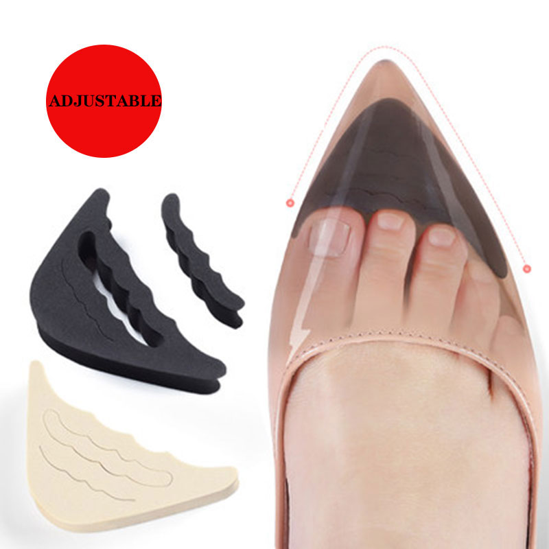 1 Pair Forefoot Insert Pad For Women High Heels Toe Plug Half Sponge Shoes Cushion Feet Filler Insoles Adjustment Pads
