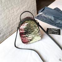 תרמילי אופנה 2018 הגעה חדשה רב תפקודי תיק נסיעות תיקי כתף מקרית פאייטים נערת תיק גב בצבע מתנה לשנה חדשה