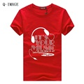 HOT!2016 Men's fashion T-shirt summer tops & tees short sleeve clothing man's headset tshirt brand man round boy neck t shirt