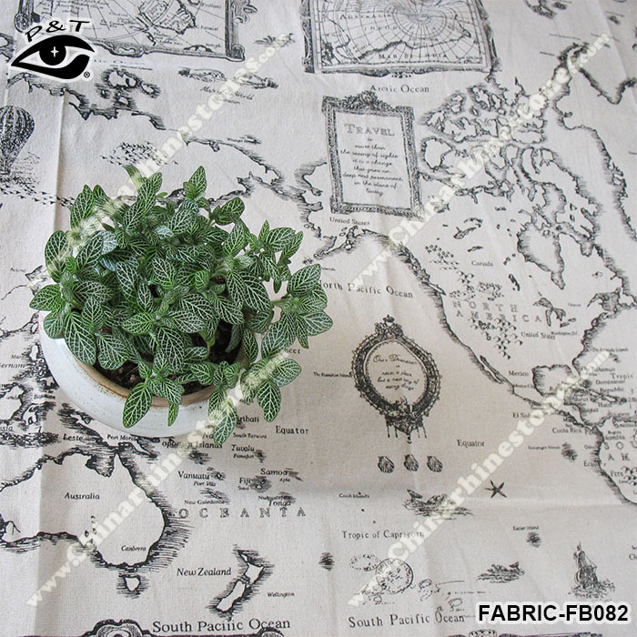 Fabric tote bag pattern picture more detailed picture about new new world map fabric map pattern linen fabric for tablecloth sofa decorations sciox Choice Image