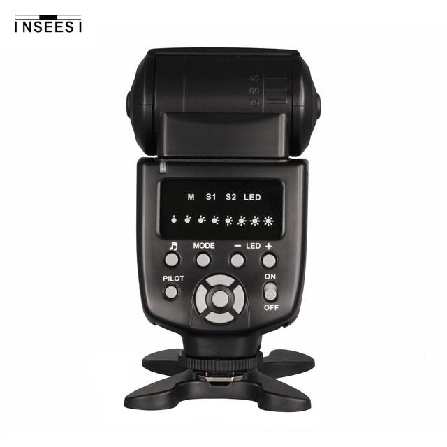 INSEESI IN560IV Wireless Flash Speedlite Integrated Transceiver for Canon Nikon Panasonic Pentax Camera  DSLR Camera Flash