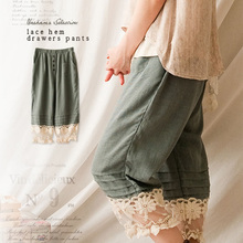 Mori Girl Wide Leg Pants Women Sweet Lac