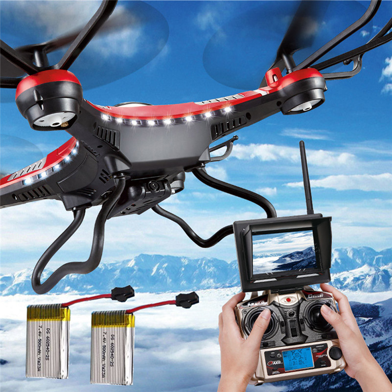 JJRC H8D 6-Axis Gyro 5.8G FPV RC Quadcopter Drone HD Camera+Monitor+2 Battery kvadrokopter mini drones with camera hd A1 free shipping hmdvr mini digital audio video recorder 30fps for fpv drones quadcopter qav250 kvadrokopter rc drone