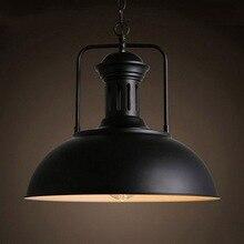 Lámpara de techo Retro Vintage, lámpara de hierro Industrial para Loft, lámpara de aplique para hogar, restaurante, Bar