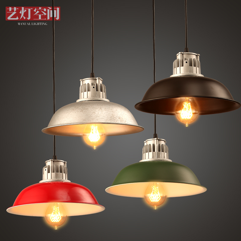 Loft Industrial Wind Wrought iron Chandelier Bar Counter American Cafe Restaurant Single Head Pot Droplight