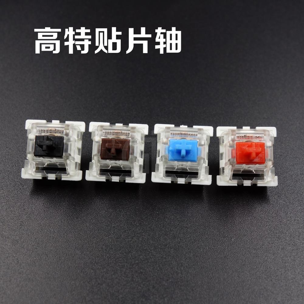 10pcs/pack original High quality Outemu mechanical keyboard switches 3pins RGB SMD black blue red brown keyswitch