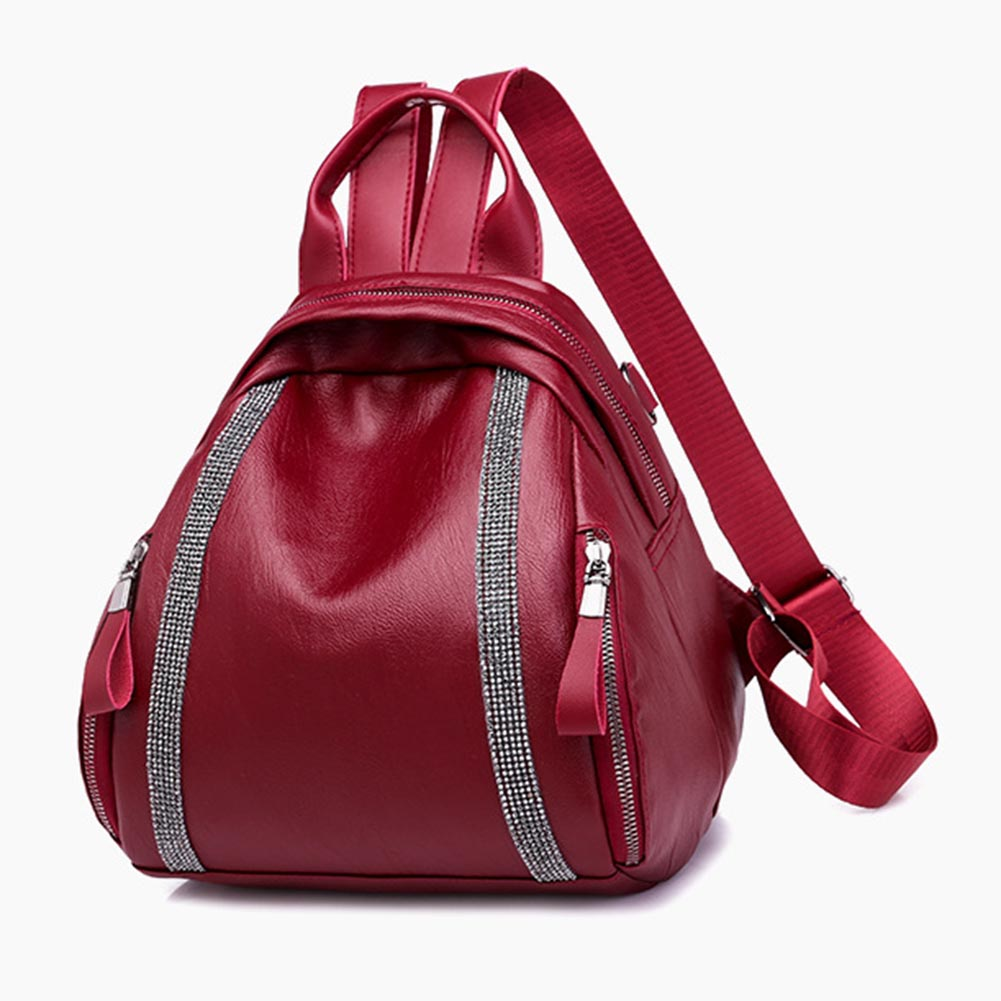 Fashion Women Lady Girl Backpack Small PU Zipper Large Capacity For Mobile Phone Keys Cosmetics WML99