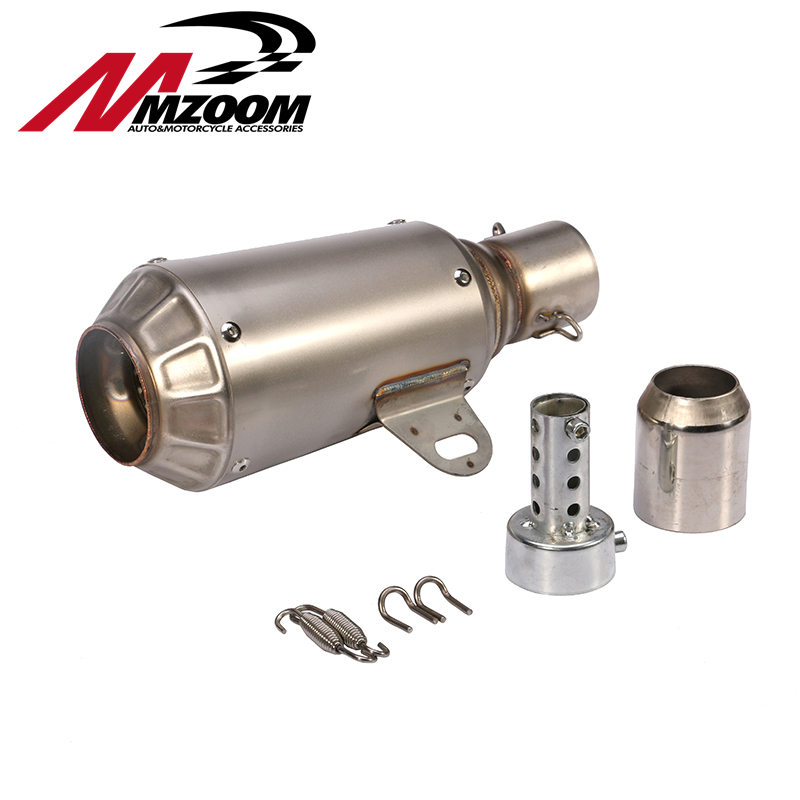 FREE SHIPPING titanium Stainless Steel 51mm universal exhaust motorcycle Slip On Exhaust Pipe System Silencer Muffler корпус фильтра гейзер вв 10 x 1 для холодной воды