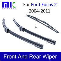 Combo Rubber Windscreen Front And Rear Wiper Blades For Ford Focus 2 2004 2011 Wipers Car