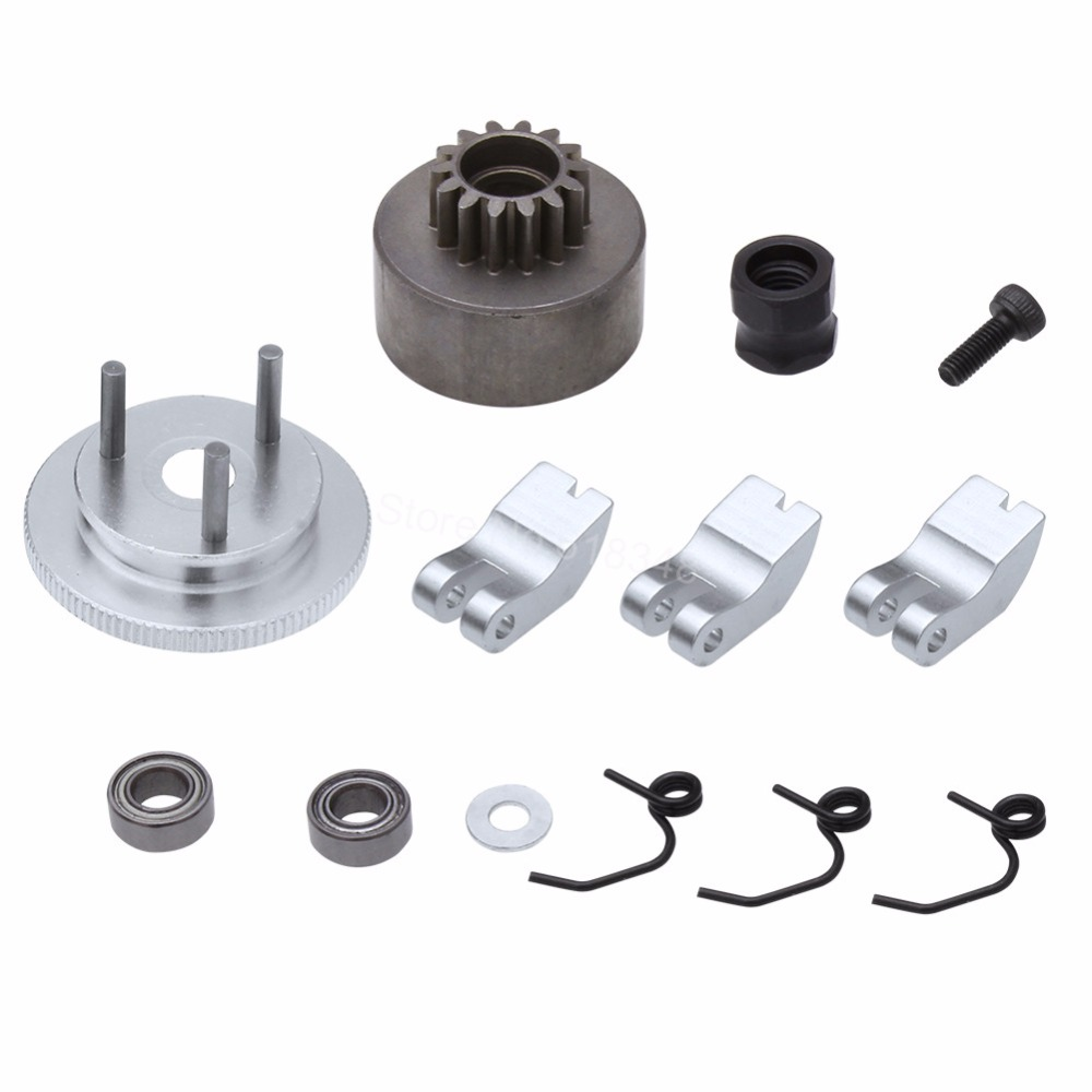 RC Clutch Bell 14T Gear Flywheel Assembly with Springs Bearings Shoe Sets For HSP 1:8 Buggy Upgrade Parts 81020 Nitro Engine shijiazhuang hb150 tractor parts set of flywheel nut cylinder head bolt adjusting screws with nuts for engine 1100