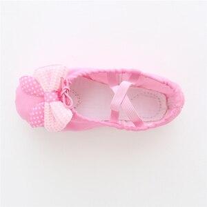 Image 5 - Kızlar dans ayakkabıları yumuşak tuval bale ayakkabıları Danse kızlar için çocuk çocuk yüksek kalite dans terlik balerin ayakkabıları