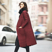 2016 New Jacket Women Winter Down Coat Women's Clothing Warm Outwear Cotton-Padded Long Jacket Slim Trench Thin Overcoat C218