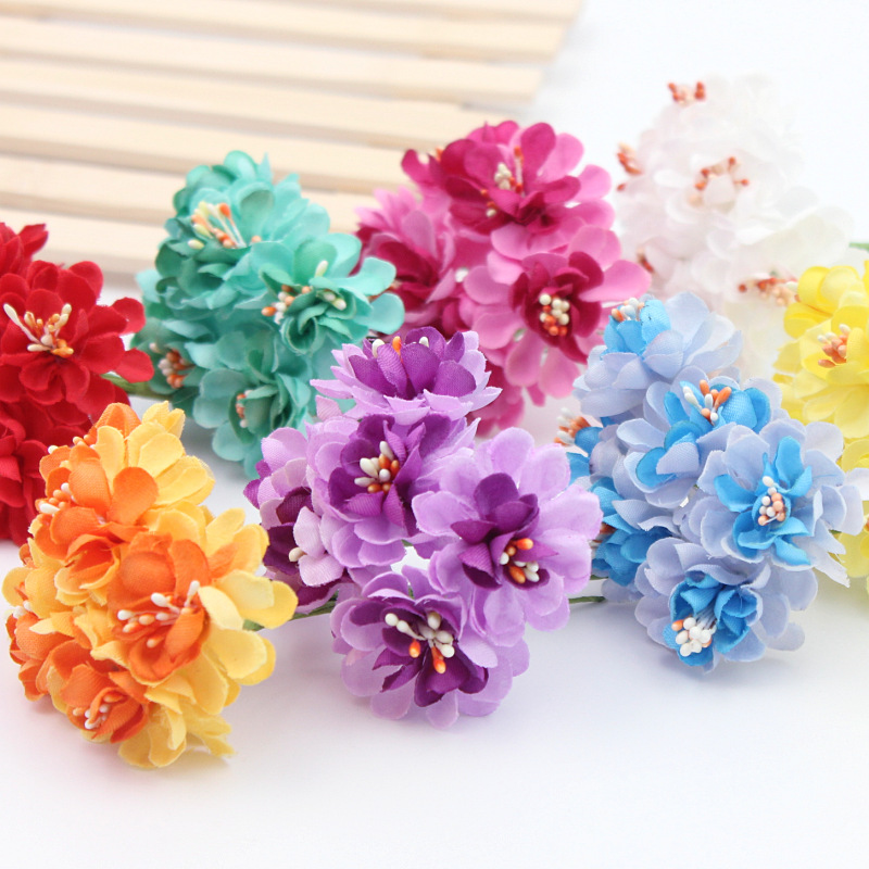 12pcs/lot Silk Artificial Rose Flowers Bouquet Wedding Decoration ...