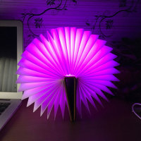 Creative Design 5V USB Rechargeable RGB LED Book Lights Desk Bed Night Lamp Bulb For Decoration