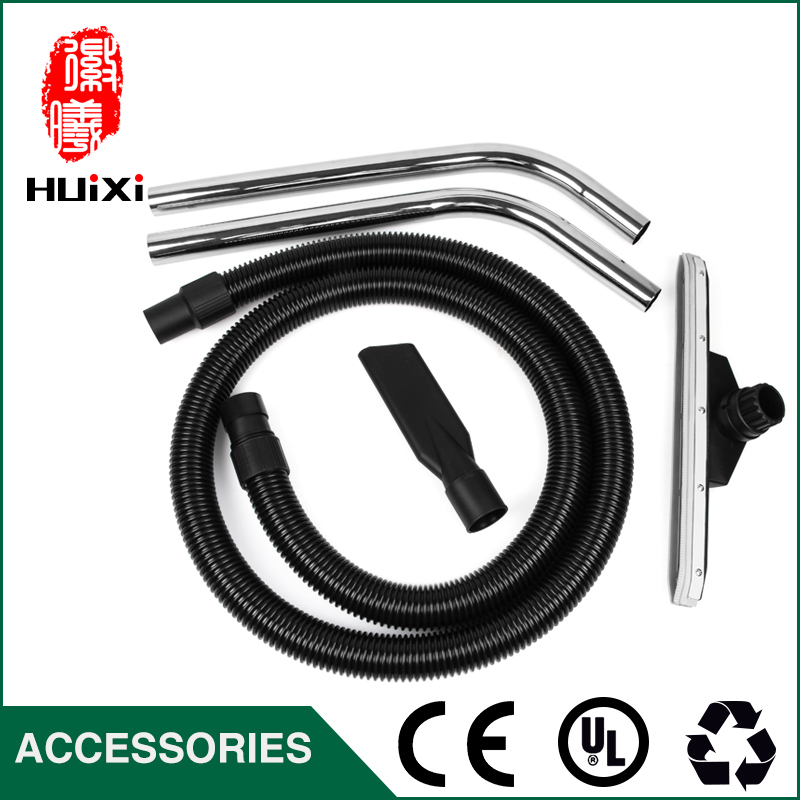 Diameter 40mm Black Flexible EVA threaded Hose+bending pipe+Floor brush +nozzle suction for industrial Vacuum Cleaner part BF501 industrial vacuum cleaner parts black pipe eva hose 38mm 45mm genenal hose