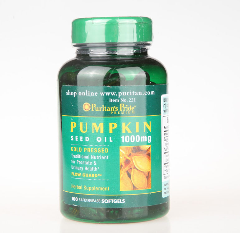 Pumpkin Seed oil 1000 mg 100 pcs Free shipping 1000mg 100 pcs fish oil bottle for health capsules omega 3 dha epa with free shipping