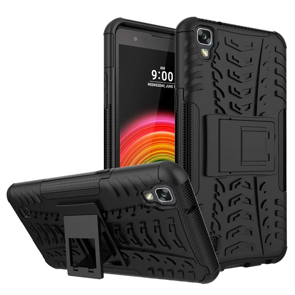 Caso para lg x power anti golpe accesorios del teléfono móvil de plástico silici
