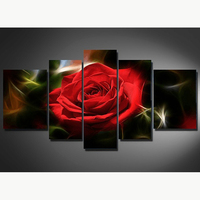 5 sets/lot Red rose 5D DIY Diamond Painting Cross Stitch Full Drill Resin Diamond Embroidery Diamond Mosaic Home decor AS839