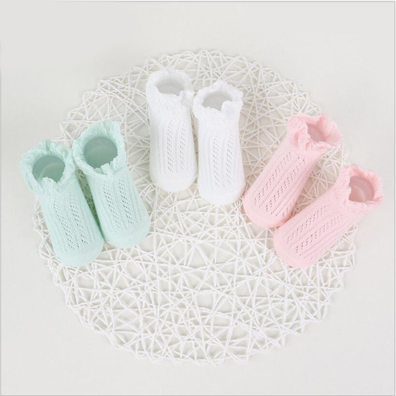 New Summer Candy Colors Retro Lace Ruffle Frilly Ankle Short Socks Kids Princess Baby Girl Socks 0 To 4t