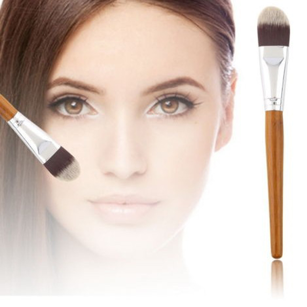 El envío Libre De Bambú Mango de cepillo de base Universal de Maquillaje Cosméti