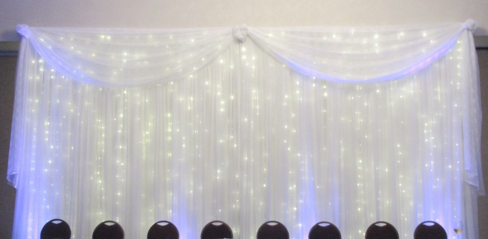 10x20ft backdrop silk fabric draping