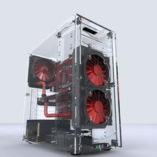 Новейшие L500 настольные компьютеры все прозрачные акриловые вертикальные Micro/ATX компьютерные корпуса башни из оргстекла USB3.0/аудио Hands-on в сборе