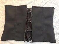 Zipper And Hooks Combo Rubber Latex Waist Trainer Clip And Zip Waist Cincher Underbust Waist Trainer