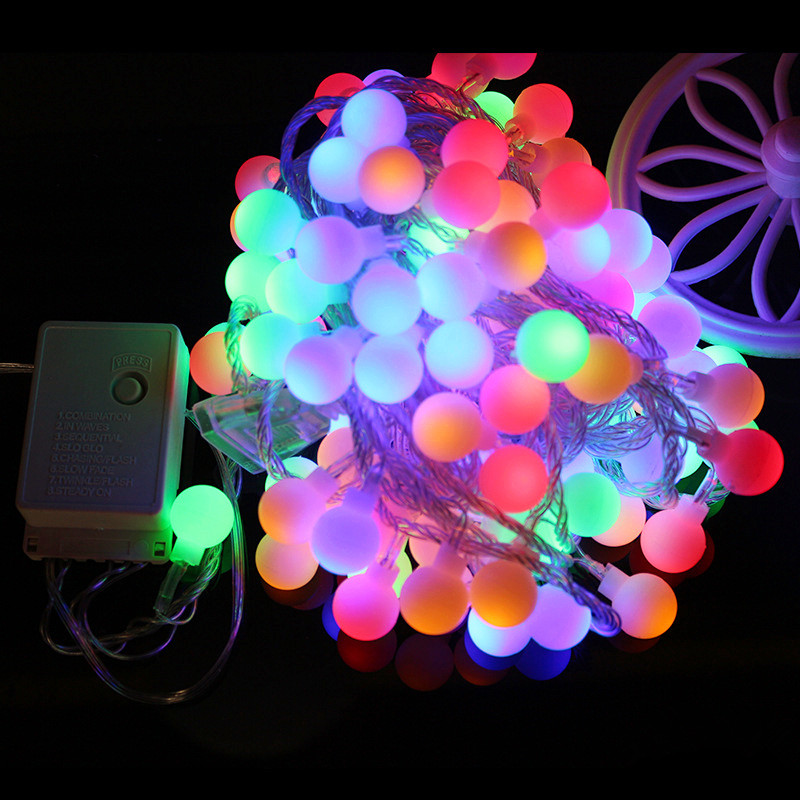 Holiday Lamp string USB 1.5M 3M 6M 10M Fairy Garland Ball LED String Light Battery Operated Christmas Wedding Party 220V EU Plug 2018 3m 220v 20pcs car models night lamp kid children room decor paper string lighting holiday lights eu uk plug luminaria