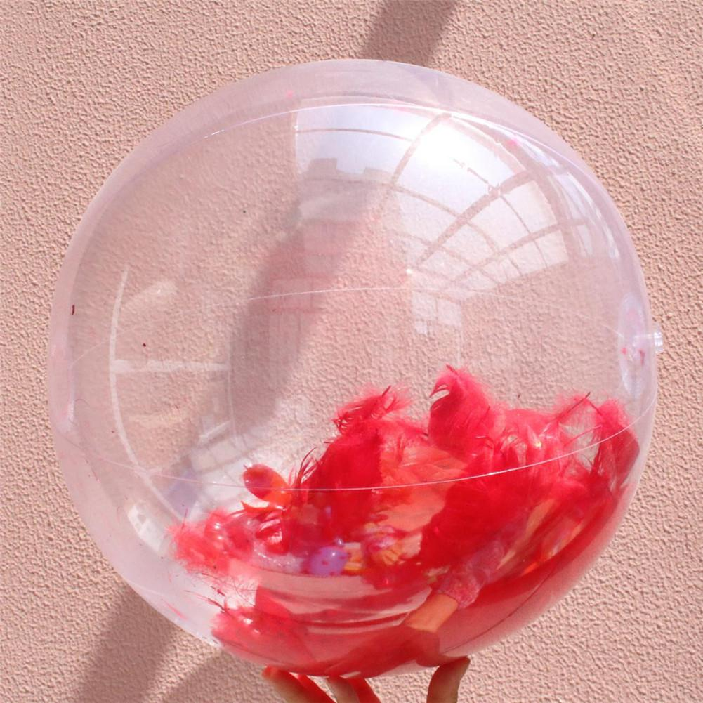 Inflatable Transparent Feather Beach Ball For Outdoor Swimming Pool Water Playing