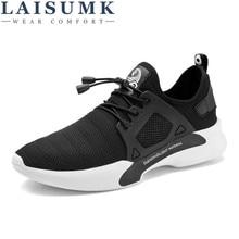 2019 LAISUMK New Fashion Men Casual Shoes Flats Sneakers Breathable Mesh shoes Tenis Feminino Trainers