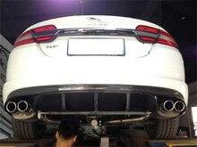 For Jaguar XF 2012.2013.2014.2015 Carbon Fiber Rear Lip Spoiler High Quality Car Bumper Diffuser Auto Accessories 2*2=4 Exhaust