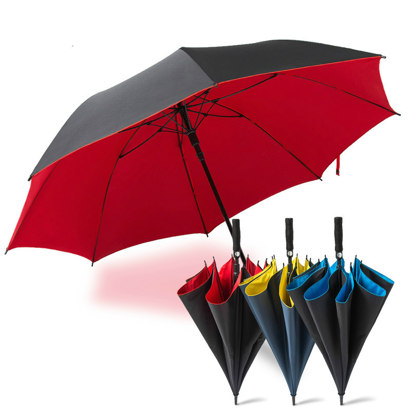 2018 New High-end Long Handle Creative Umbrella Outdoor Automatic Oversized wind UV Protection Golf Umbrella LV-58