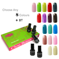 Customized Clou Beaute 299 Colors (SONP Any 8 Colors+ Base Top Coat) Gel Nails UV Color Lacquer Soak Off UV Led Nail Gel Polish