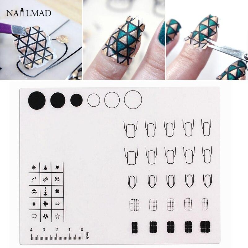 ΞNail Art Stamping Mat Silicone Mat For Stamping Decals Nail ...