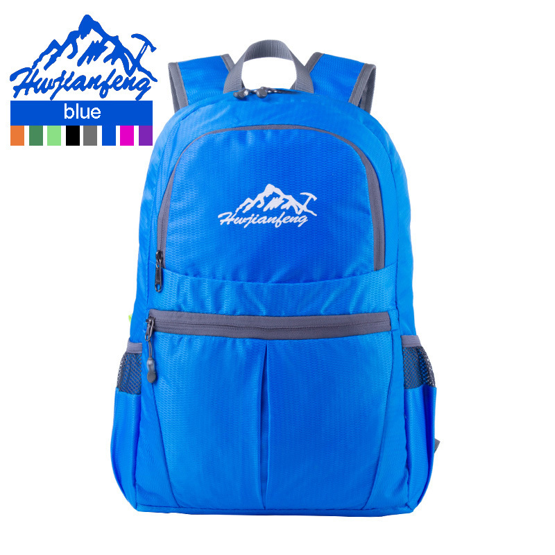 HOT 2019 Outdoor Softback Nylon Waterproof Multicolor backpack Can be folding bag portable travel Ultra-light skin package 28L