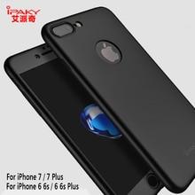 IPaky бренд для Apple iPhone 6/6 S 7 Plus 8 360 Полный протектор матовый корпус телефона подарок стенд Закаленное стекло для мужчин и женщин противоударный