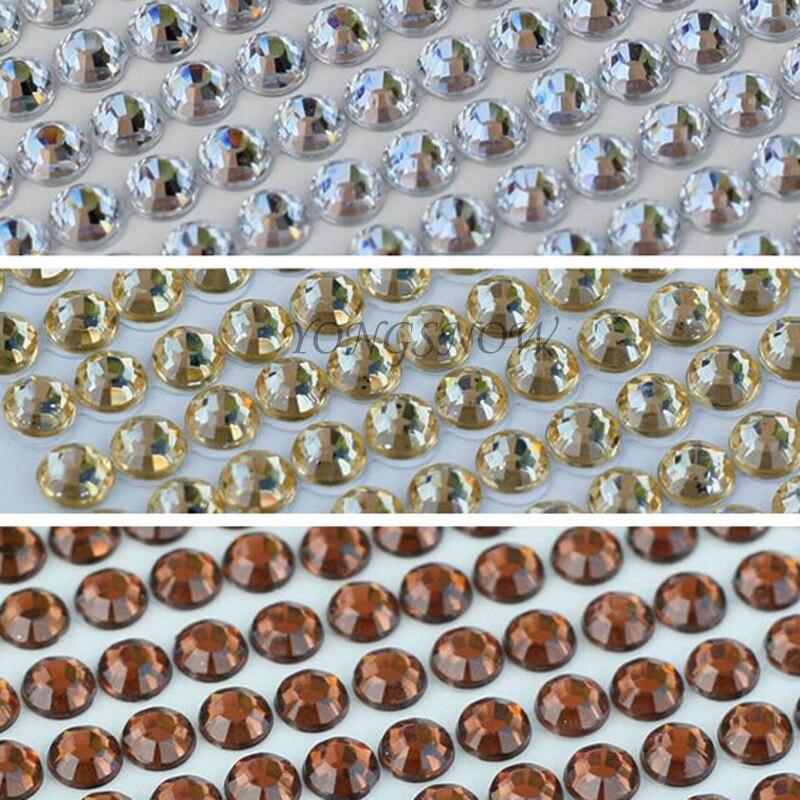 504Pcs / set 6MM akril labav vještački dijamant kristal flatback za - Umjetnost, obrt i šivanje - Foto 3