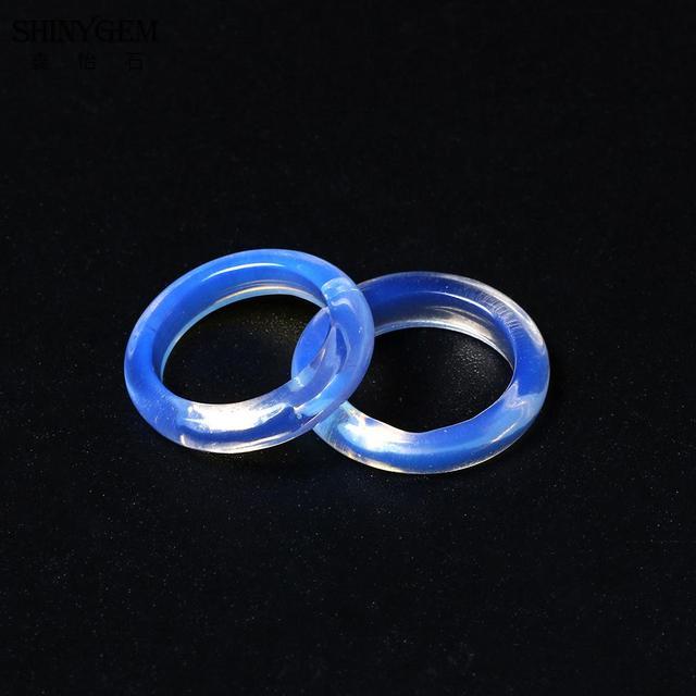 Женские кольца shinygem minimalism moonstone белые/прозрачные
