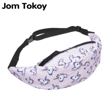 Jom Tokoy New 3D Colorful Waist Pack for Men Fanny Pack Style Bum Bag unicorn Women Money Belt Travelling Mobile Phone Bag