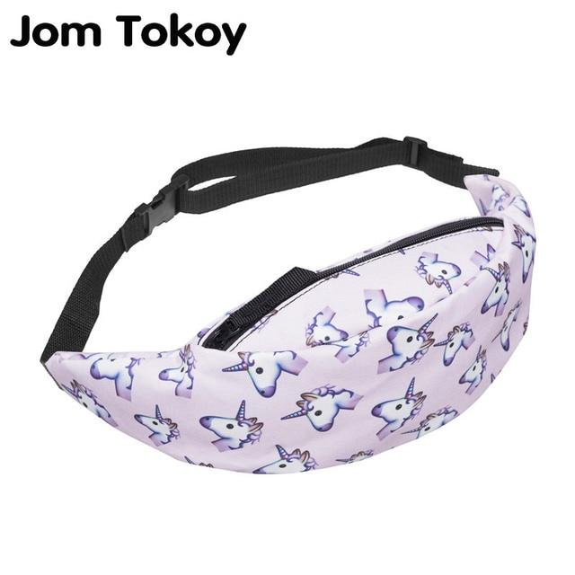 ЛОМ токойское Новый 3D красочные Талии Пакет Для мужчин поясная сумка Стиль сумка-кошелек на пояс Единорог Для женщин деньги ремень путешествия мобильный телефон сумка
