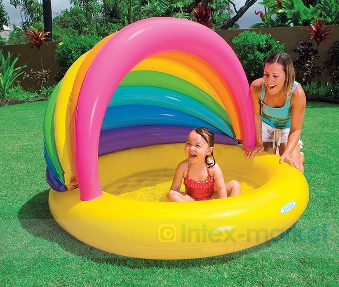 где купить  Intex Child Pool Inflatable Swimming Pool Fence Set Child Pool Float Swimming Pool Inflatable Filter Infant Bathtub Spa Cover  по лучшей цене