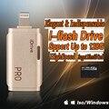 I-flash drive micro sd leitor de cartão de memória cabo usb e app para adicionar armazenamento extra para iphone ipod ipad mac e pc