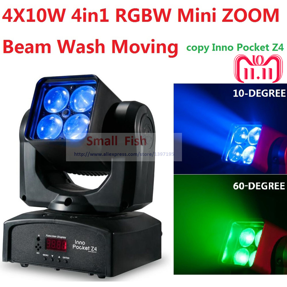2018 ADJ Inno Pocket Mini ZOOM Moving Head Light 4x10W 4in1 RGBW 10-60 Degree Beam Wash Stage Effect Disco DMX KTV Club Lights багажники inno