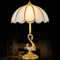 Fashion Luxury high quality Continental copper bedside table lamp decoration desk light brief american style table lamp fixture